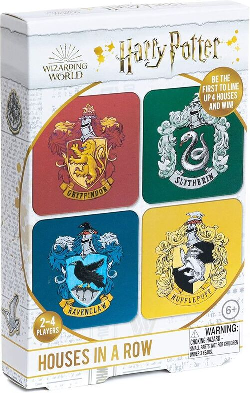 Harry Potter - Hogwarts Houses In A Row Game - Spel;Spel (5055964769598)