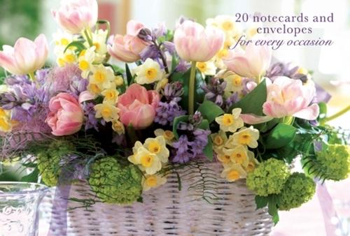 Afbeelding van Card Box of 20 Notecards and Envelopes: Pink Tulip