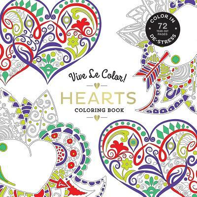 Afbeelding van Noterie, A: Vive Le Color! Hearts (Adult Coloring Book)