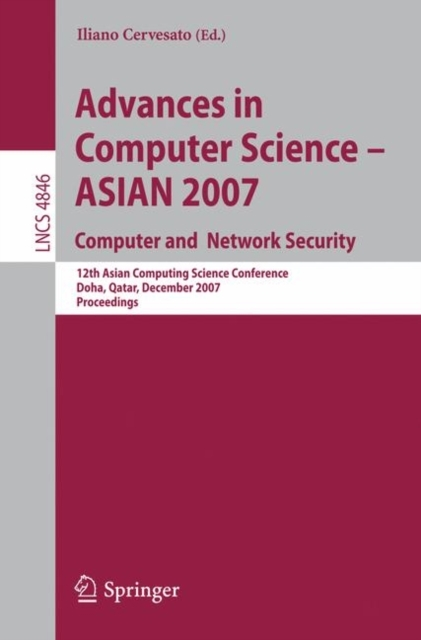 Afbeelding van Advances in Computer Science - ASIAN. Computer and Network Security
