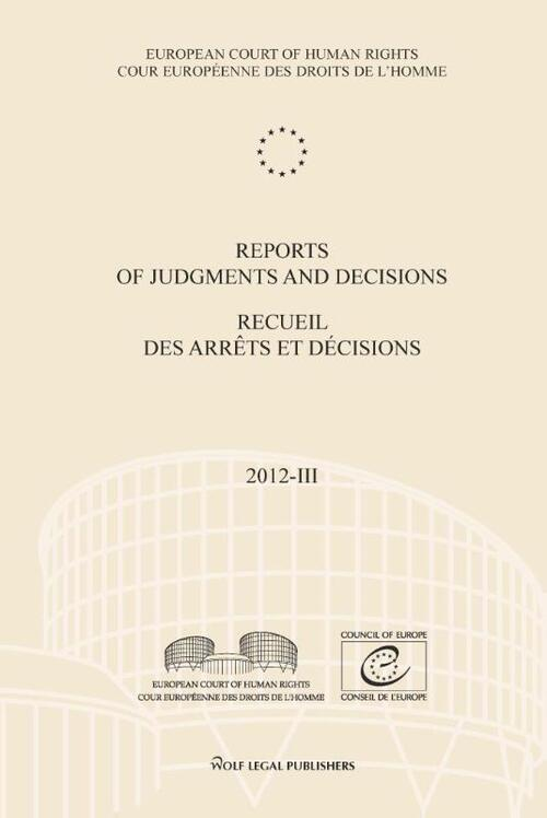 Reports of judgments and decisions / recueil des arrets et decicions