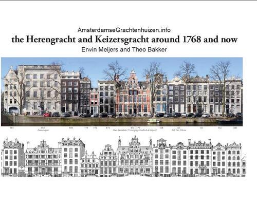 Afbeelding van The Herengracht and Keizersgracht in 1768 and now