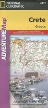 Adventure Travel Map Crete, Greece-