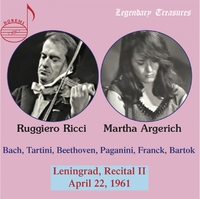 Leningrad, Recital II, 1961 - Legendary Treasures-Argerich, Martha | Ricci, Ruggiero-CD