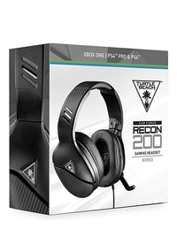 Turtle Beach Gaming Headset Zwart - Earforce Recon 200 (PS4 + Xbox One + PC + Switch)-Accessoires