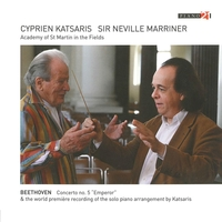Beethoven - Concerto No. 5 'Emperor'-Cyprien Katsaris, Neville -Sir- Marriner-CD