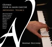 Left-Hand Piano Works V.6-Maxime Zecchini-CD