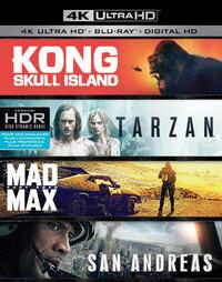 Kong: Skull Island - The Legend Of Tarzan - Mad Max: Fury Road - San Andreas (4K Ultra HD En Blu-Ray)-4K Blu-Ray
