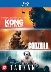 Godzilla / Kong: Skull Island / The Legend Of Tarzan-Blu-Ray