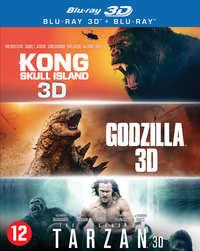 Godzilla / Kong: Skull Island / The Legend Of Tarzan-3D Blu-Ray