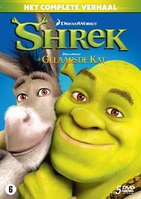 Shrek 1-4 + De Gelaarsde Kat-DVD