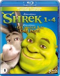 Shrek 1-4 + De Gelaarsde Kat-Blu-Ray