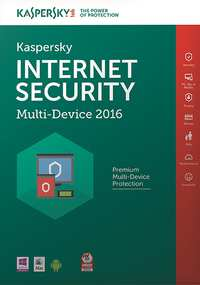 Kaspersky Internet Security Multi-Device 2016 Benelux (3 Users 1 Year) Box-PC CD-DVD