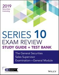 Wiley FINRA Series 10 Exam Review 2019-Wiley