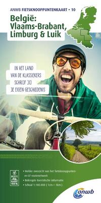 ANWB fietsknooppuntenkaart 10 - België, Vlaams-Brabant, Limburg & Luik-Anwb