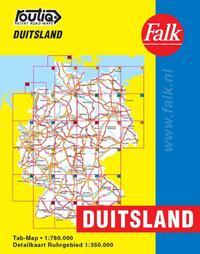 Falk autokaart Duitsland routiq 2016-2017, 7e druk atlas met ringband-