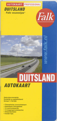 Falk autokaart Duitsland professional recente uitgave, editie 2015-2017-