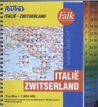 Falk wegenkaart - Italië Zwitserland-Falk