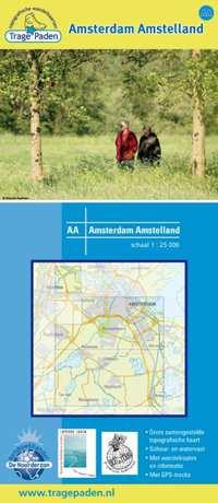 Trage paden - Wandelkaart Amsterdam Amstelland-Leon Receveur