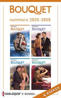 Bouquet e-bundel nummers 3805-3808 : Schokkend voorstel ; In Griekse armen ; Van saai naar sexy ; Schandalige eis (4-in-1)-Lindsay Armstrong, Maya Blake, Sara Craven, Tara Pammi-eBook