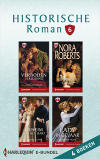 Historische roman e-bundel 6 (4-in-1)-Candace Camp, Courtney Milan, Nicola Cornick, Nora Roberts-eBook